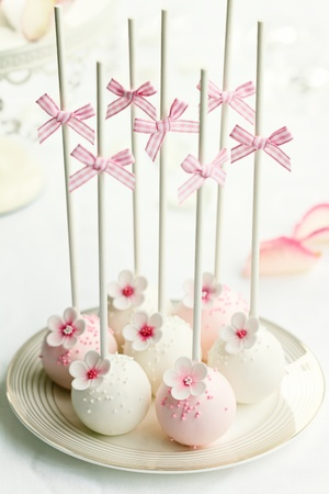 cake pops: Wedding cake pops