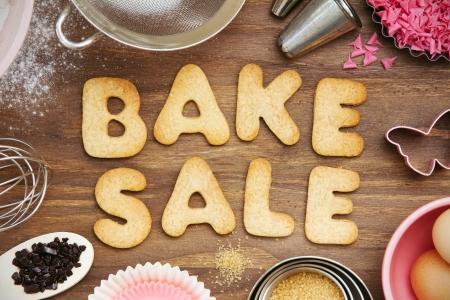 food sales: Bake sale cookies Stock Photo