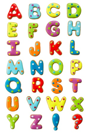 e alphabet: Cookie alphabet