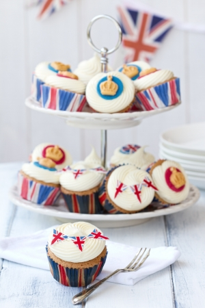british food: Royal Jubilee cupcakes
