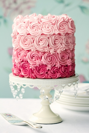 Pink ombre cake Stock Photo - 13840307