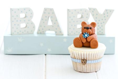 Cupcake para un baby shower Foto de archivo - 13840305