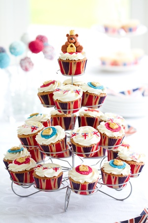 street party: Royal Jubilee cupcakes