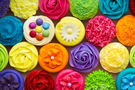 colourful: Cupcakes