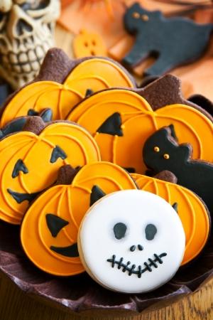calabazas de halloween: Galletas de Halloween Foto de archivo