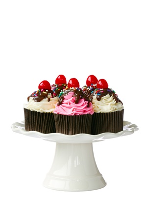 Cherry cupcakes  Stock Photo - 14702075