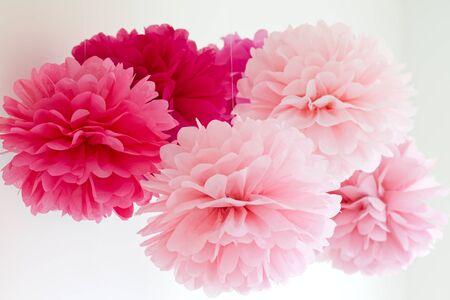 gewebe: Tissue Pompons Lizenzfreie Bilder