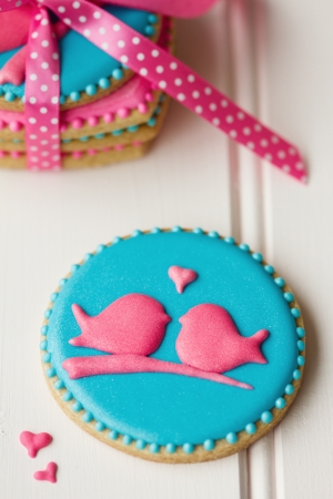 galletas: Lovebird galletas