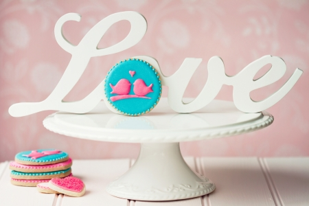 Lovebird cookies photo
