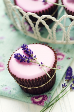 Lavender cupcakes photo