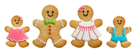 christmas gingerbread: Gingerbread family Stock Photo