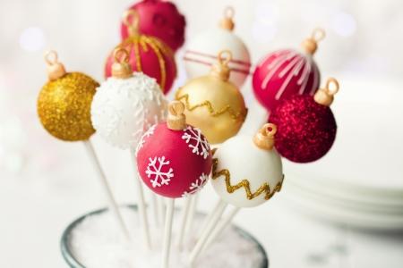 Gâteau de Noël pops Banque d'images - 15254178