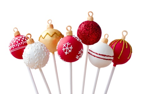 cake ball: Christmas cake pops