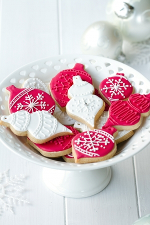 baking cookies: Christmas cookies