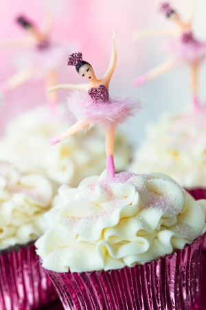 Ballerina cupcakes Stock Photo - 15736143