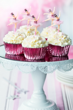Ballerina cupcakes Stock Photo - 15736150