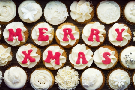 Christmas cupcakes Stock Photo - 16113357