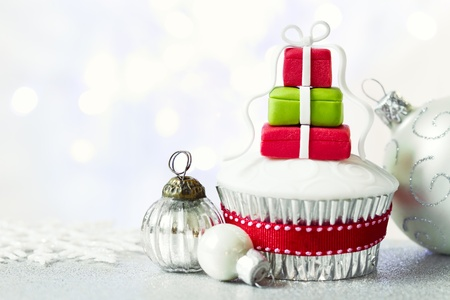 Christmas cupcake Stock Photo - 16292702