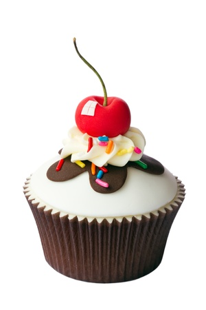 chocolate cupcakes: Cherry cupcake