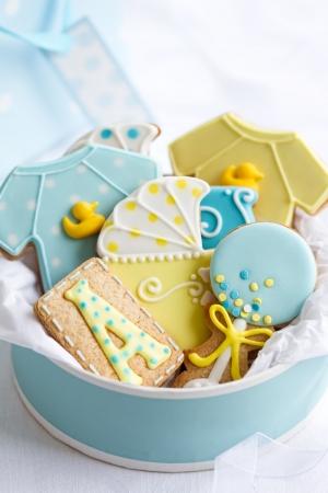 romper: Baby shower cookies