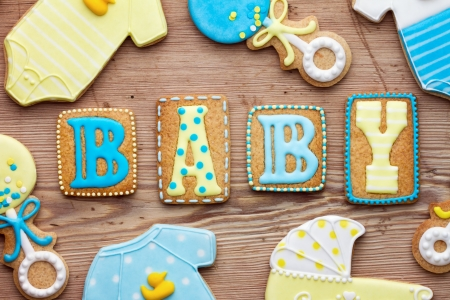 biscuit: Baby shower cookies