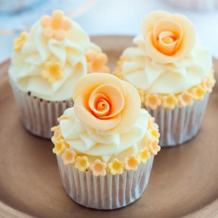 Bröllop cupcakes Stockfoto