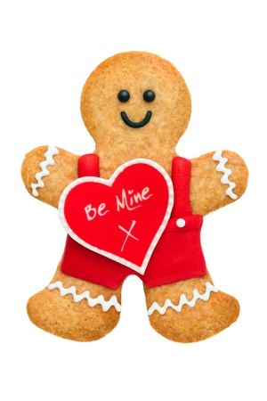 Valentine gingerbread man Stock Photo - 17359948