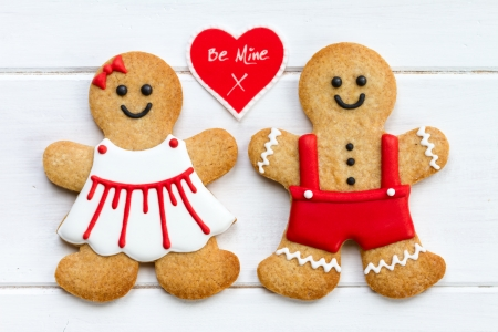 biscuits: Gingerbread couple  Stock Photo