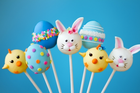 cake balls: Easter cake pops Stock Photo