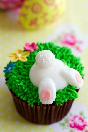 springtime: Easter bunny cupcake