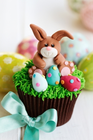 Easter bunny cupcake photo