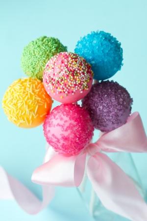 paletas de caramelo: Cake pops