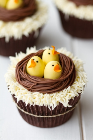 chocolate cupcakes: Easter cupcakes