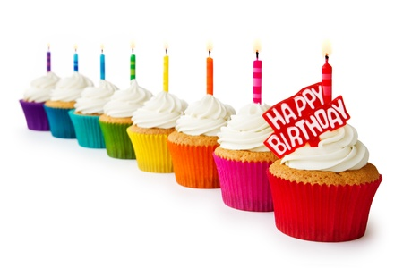 Birthday cupcakes Stock Photo - 18656560