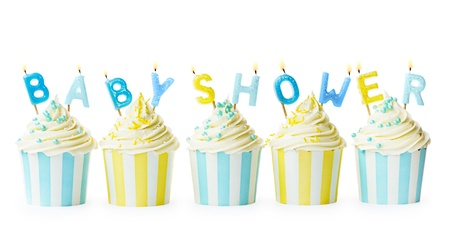 baby boy shower: Baby shower cupcakes Stock Photo