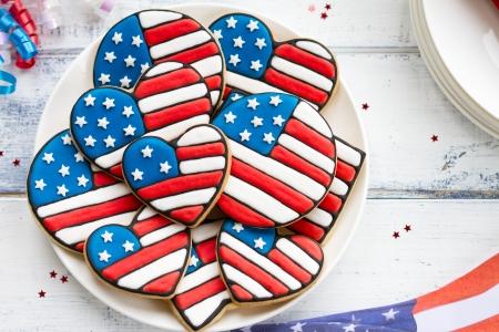 cookie on white: Patriotic cookies