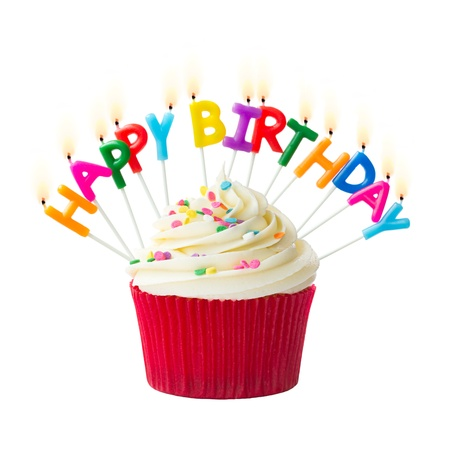 케이크: 생일 먹고 스톡 사진