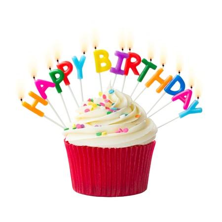 Birthday cupcake Foto de archivo