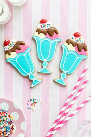 sugar cookie: Ice cream sundae cookies