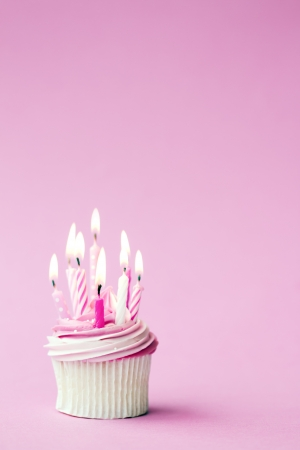 Birthday cupcake Zdjęcie Seryjne