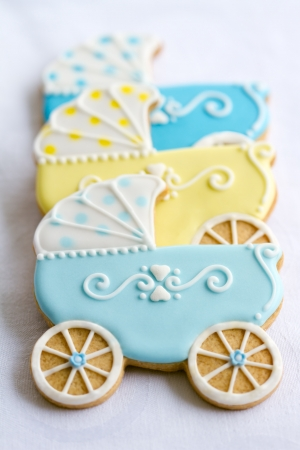 baby stroller: Baby shower cookies