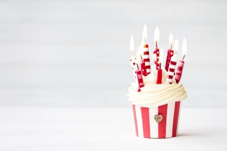 Verjaardag cupcake Stockfoto