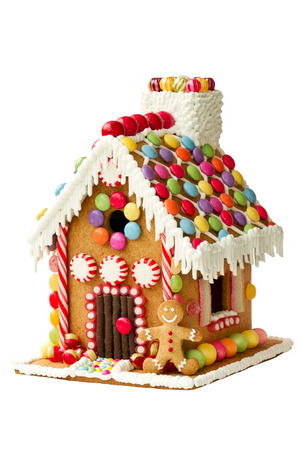 case colorate: Gingerbread casa Archivio Fotografico