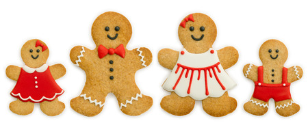 Gingerbread familie Stockfoto