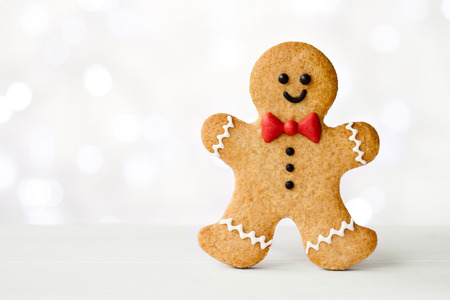 homemade cookies: Gingerbread man  Stock Photo