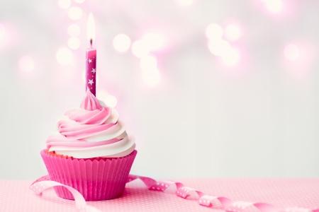 핑크 생일 먹고