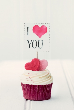 I Love You  cupcake photo
