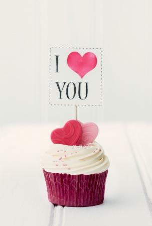 i love:  I Love You  cupcake