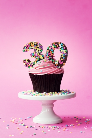 30th birthday cupcake photo