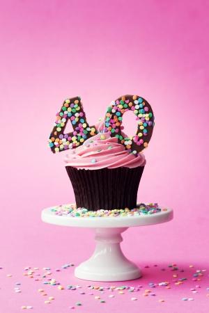 birthday cupcakes: 40th birthday cupcake
